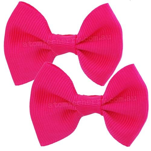 Image of Solid Colour Hair Clips - Hot Pink