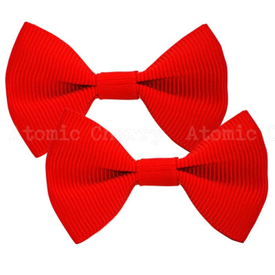 Image of Solid Colour Hair Clips - Red