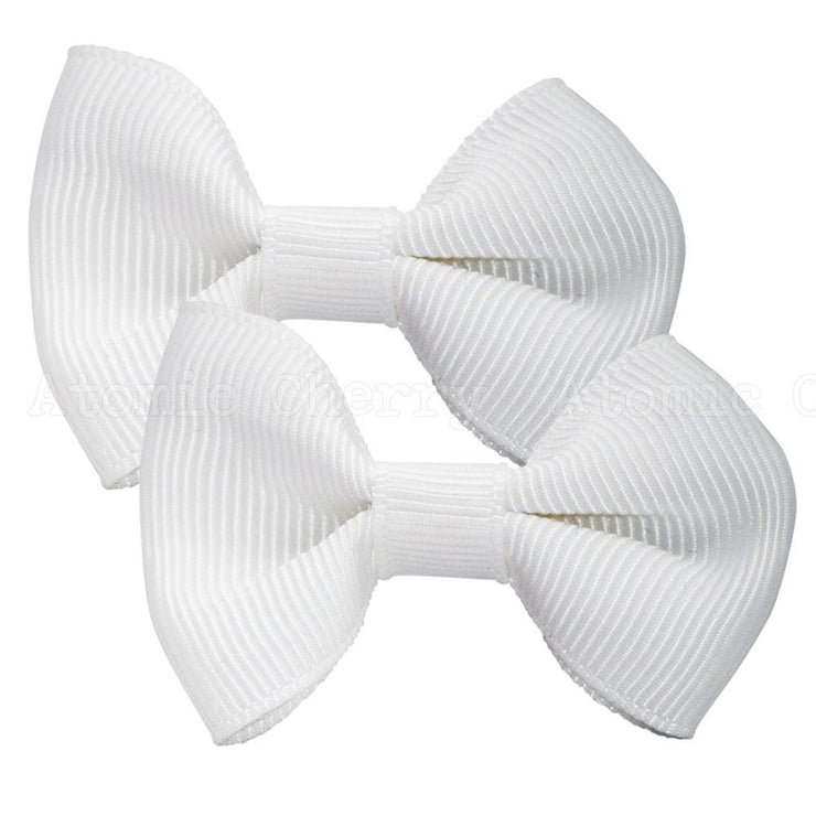 Image of Solid Colour Hair Clips - White