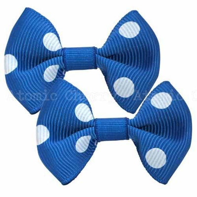 Image of Polka Dot Hair Clips - Blue/White