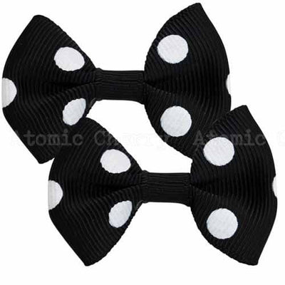 Image of Polka Dot Hair Clips - Black/White
