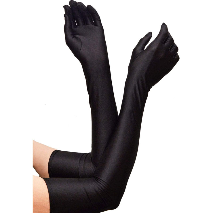 Image of Evening Gloves - Long (55cm) - Black