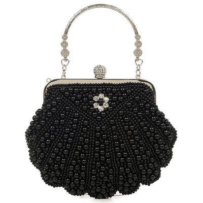 Banned Eleanor Beaded 1920s Clutch Bag front/back