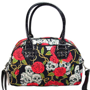 Image of Banned Skull & Roses Handbag