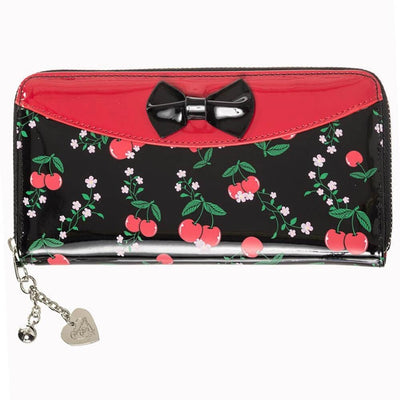 Image of Banned Cherry Bow Zip Around Wallet