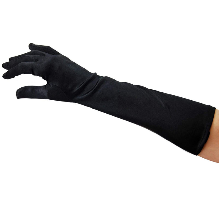 Image of Evening Gloves - Below Elbow (37cms) - Black