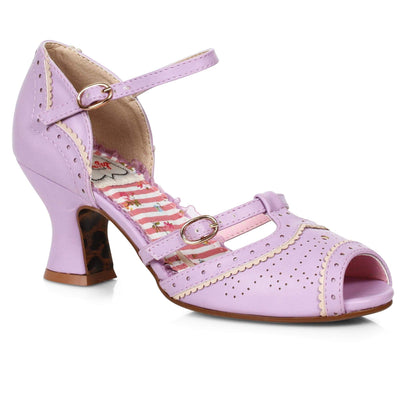 Bettie Page Shoes - Nicole Heels - Lavender