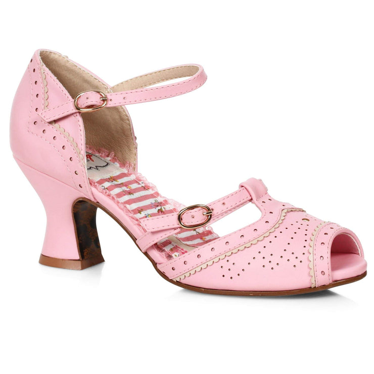 Bettie Page Shoes - Nicole Heels - Pink