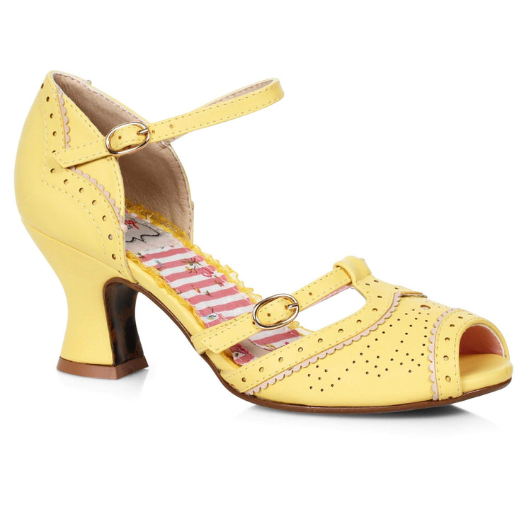 Bettie Page Shoes - Nicole Heels - Yellow