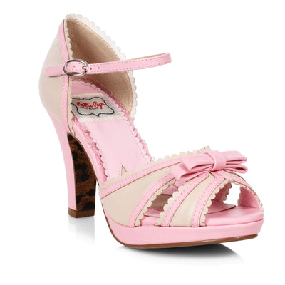 Bettie Page Shoes - Sue Heels - Pink/Nude