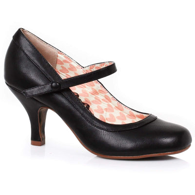 Image of Bettie Page Bettie Mary Jane Shoes - Black