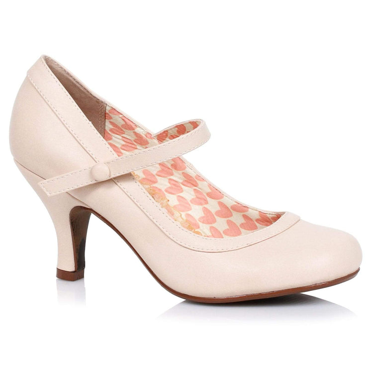 Image of Bettie Page 'Bettie' Mary Jane Shoes - Nude