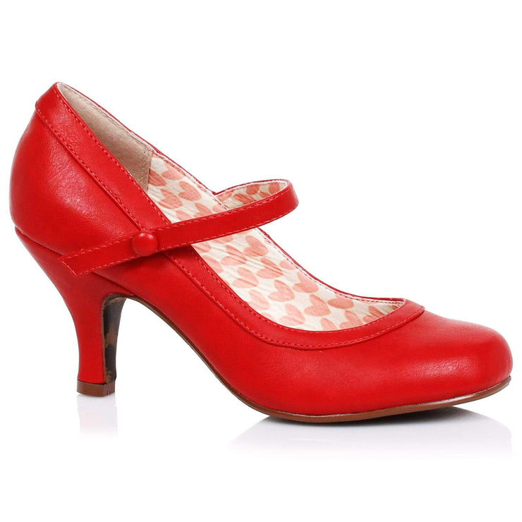 Image of Bettie Page 'Bettie' Mary Jane Shoes - Red