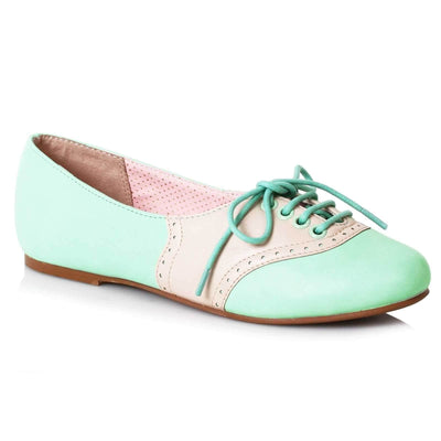 Image of Bettie Page Halle Shoes - Mint/Cream