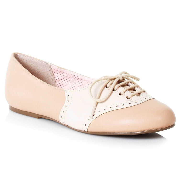 Image of Bettie Page Halle Shoes - Nude/Cream