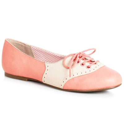 Image of Bettie Page Halle Shoes - Peach/Cream