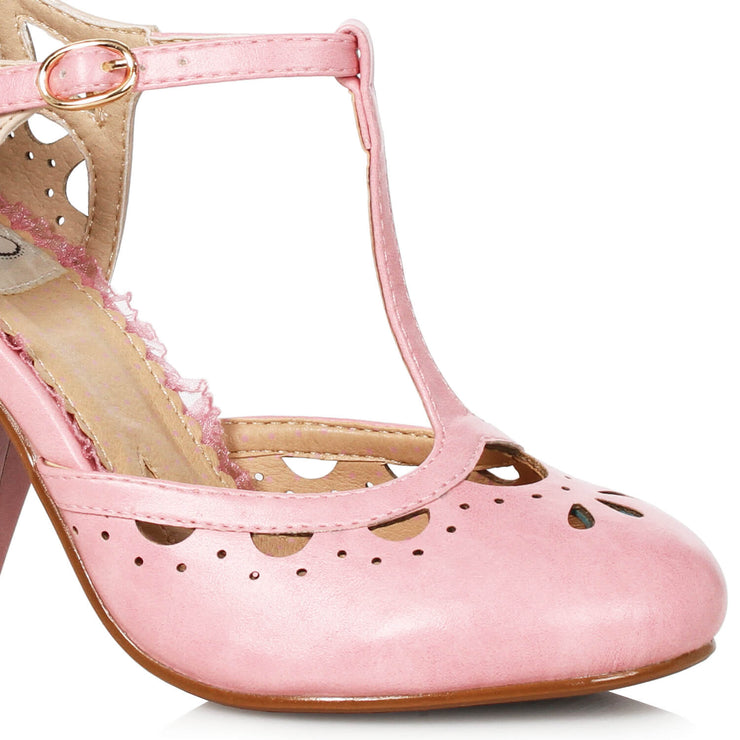 Bettie Page Shoes - Tally Heels - Pink