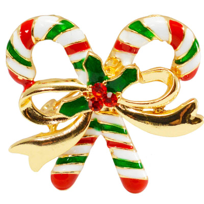 Candy Canes Christmas brooch photo