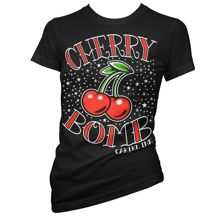 Image of Cartel Ink Women's T-Shirt - Cherry Bomb