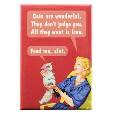 Image of Fridge Magnet - Cats Are Wonderful