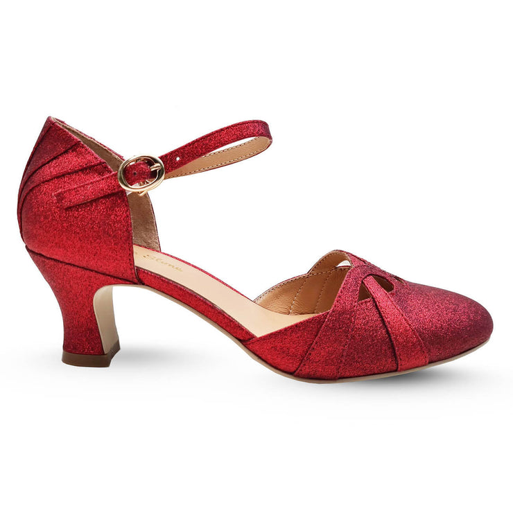 Charlie Stone Shoes Luxe Manhattan Heels - Red (Limited Edition) side