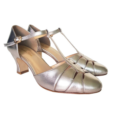Image of Charlie Stone Luxe Monaco Heels - Metallic French Champagne (Pre-Order)