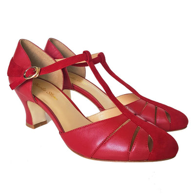 Image of Charlie Stone Luxe Toscana Heels - Blood Red (Pre-Order)