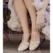 Charlie Stone Shoes Peta Flats - Cream - model shot