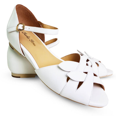 Charlie Stone Shoes Midge  Flats - White - pair