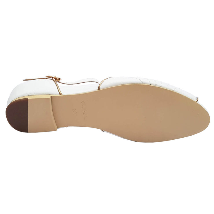 Charlie Stone Shoes Moorea Flats - Pearl - sole