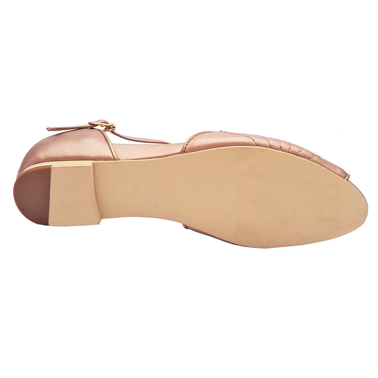 Charlie Stone Shoes Moorea Flats - Rose Gold - sole