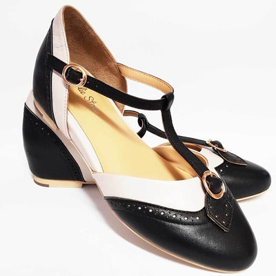 Image of Charlie Stone Parisienne Shoes - Black/Ivory