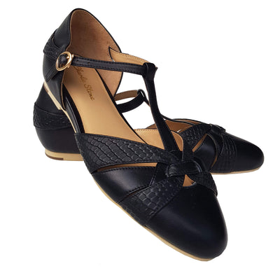 Charlie Stone Shoes Peta Flats - Black pair