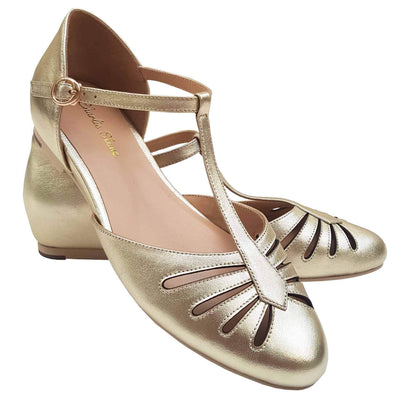Charlie Stone Shoes Singapore Flats - Metallic Gold - pair image