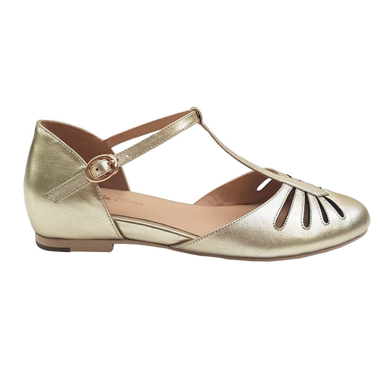 Charlie Stone Shoes Singapore Flats - Metallic Gold - side image