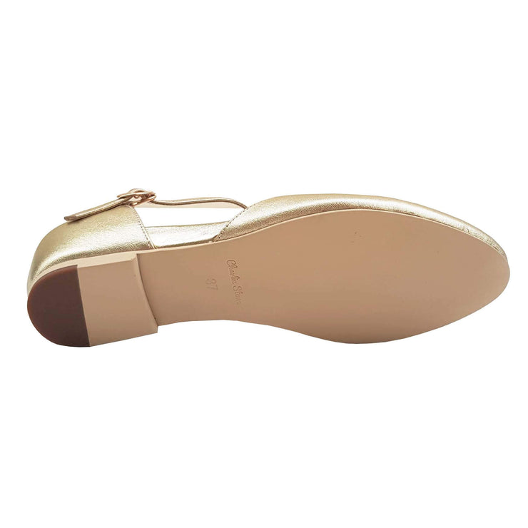 Charlie Stone Shoes Singapore Flats - Metallic Gold - sole image