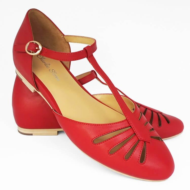 Image of Charlie Stone Singapore Shoes - Red