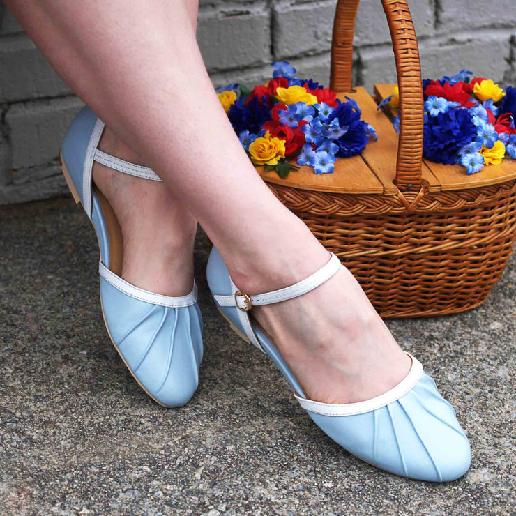 Charlie Stone Shoes Susie Flats - Baby Blue model shot