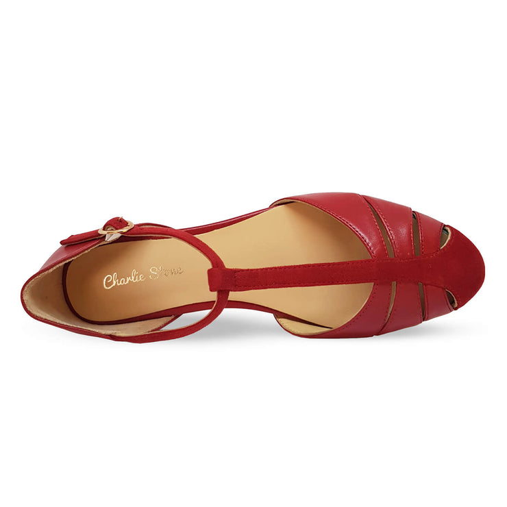 Image of Charlie Stone Toscana Shoes - Blood Red