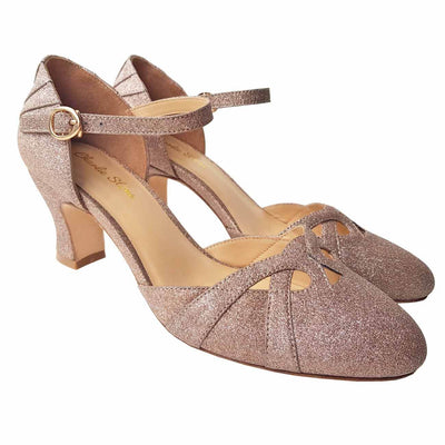 Charlie Stone Shoes Luxe Manhattan Heels - Gold - pair