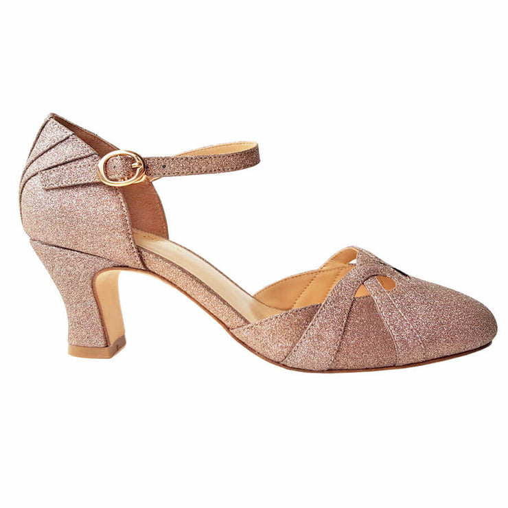 Charlie Stone Shoes Luxe Manhattan Heels - Gold - side