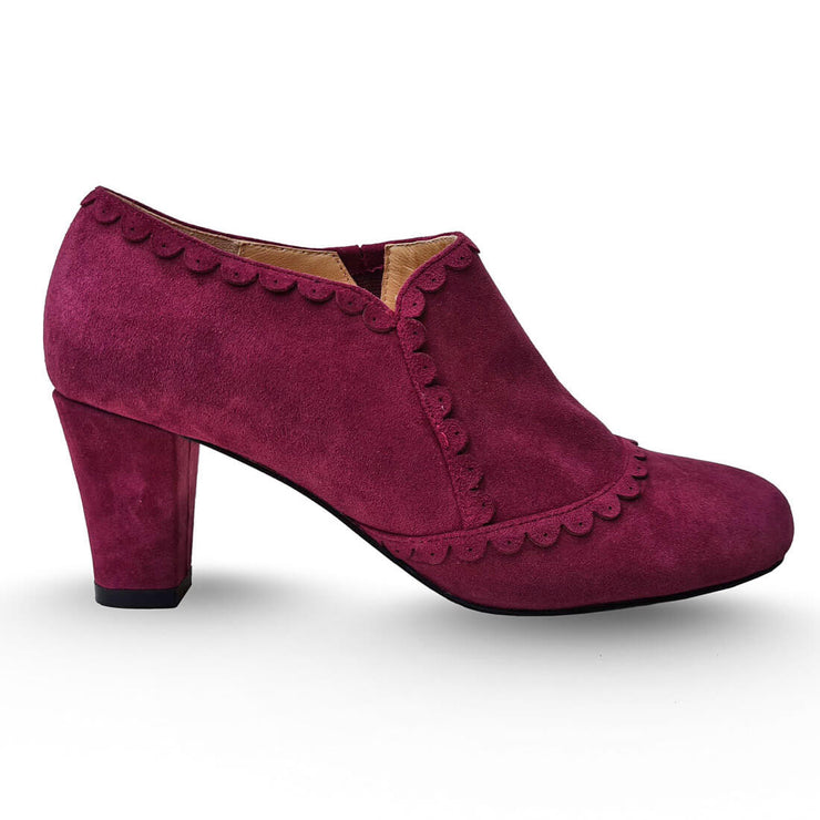 Charlie Stone Shoes - Vienna Boots - Maroon - side