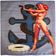 Nautical Pin Up Girl Cushion Cover
