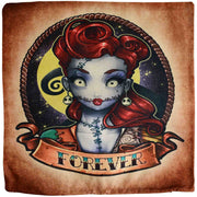 "Front image zombie pinup girl ""Forever"""