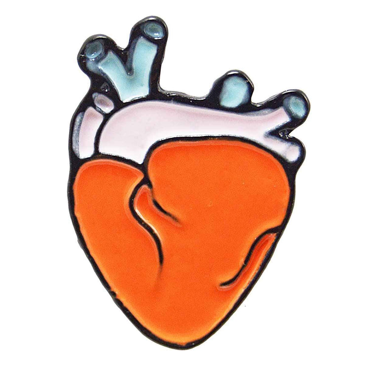 Image of Enamel Pin - Anatomical Heart