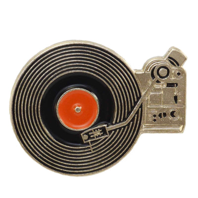 Image of Enamel Pin - Vinyl Record Player