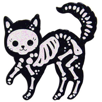 Enamel Pin - Skeleton Cat