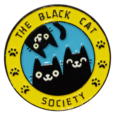 Enamel Pin - Black Cat Society