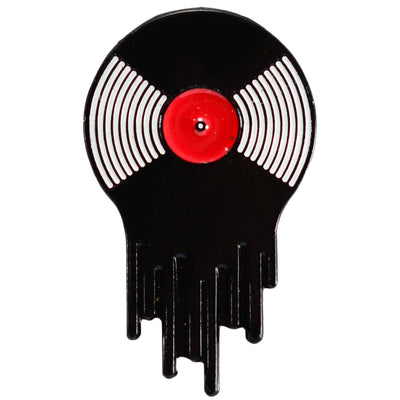 Enamel Pin - Vinyl Record Melting