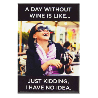 Image of Fridge Magnet - A Day Without Wine is like....